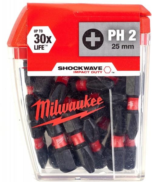 Milwaukee Schrauberbit SHOCKWAVE (2VE5) PH2 / 25 mm