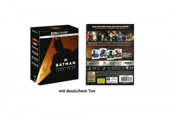 BATMAN 4-Film Collection 1989-1997 (4K Ultra HD+ Blu-ray) deutscher Ton