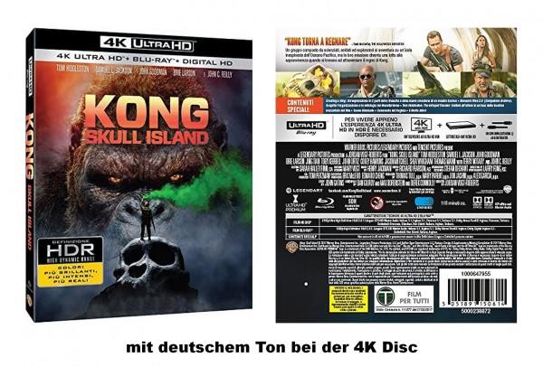 KONG: Skull Island (4K Ultra HD +Blu-ray) 4K-Disc mit deutschem Ton