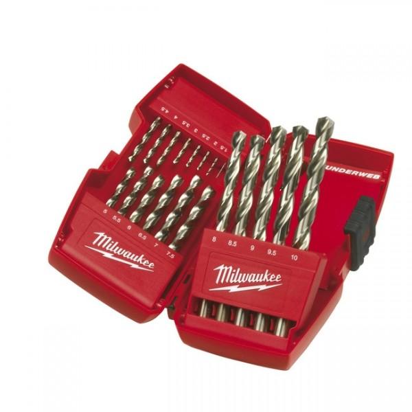 Milwaukee Bohrerkassette HSS-G Thunderweb 19-tlg. DIN 338