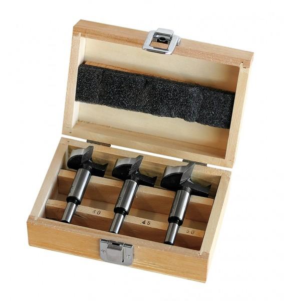 Forstnerbohrersatz 3tlg 40/45/50mm Holzkassette, FR15H