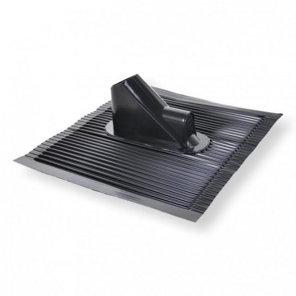 Alu-Dachziegel schwarz/anthrazit mit Kabelführung