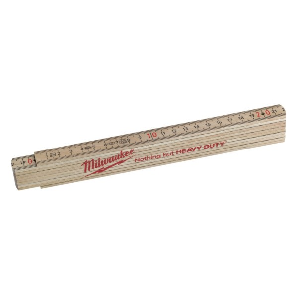 Milwaukee Gliedermaßstab Holz Slim 2m Natur