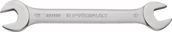 Doppelmaulschlüssel 21 x 23 mm Länge 245 mm verchromt PROMAT