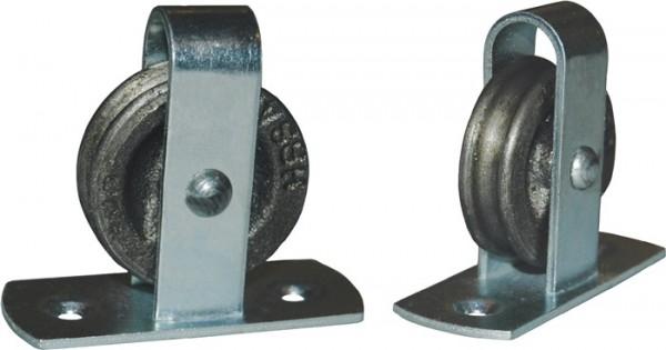 Stehrolle 496 Nut 8 mm Grauguss mit Längsplatte und gedrehter Nut BETZ