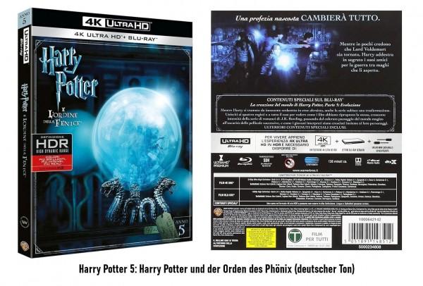 Harry Potter und der Orden des Phönix (Teil 5) 4K UltraHD+Blu-ray (Ton Deutsch)