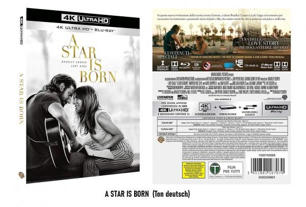 4K Blu-ray A STAR IS BORN (Ton Deutsch)