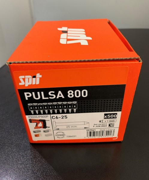 SPIT P800 Nagel C6-25 (500)Pulsa 800 Standardnägel m. Gas