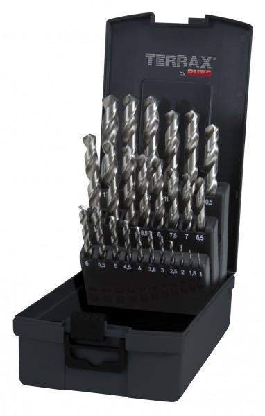 Ruko/TerraX HSS-G Spiralbohrersatz 25tlg 1-13mm in RoseBox