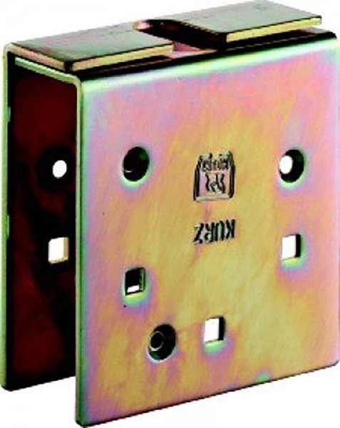 Verstärkungslasche -98 498 Profil 300 + 400 Stahl galvanisch gelb verzinkt HELM