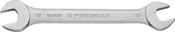 Doppelmaulschlüssel 18 x 19 mm Länge 221 mm verchromt PROMAT