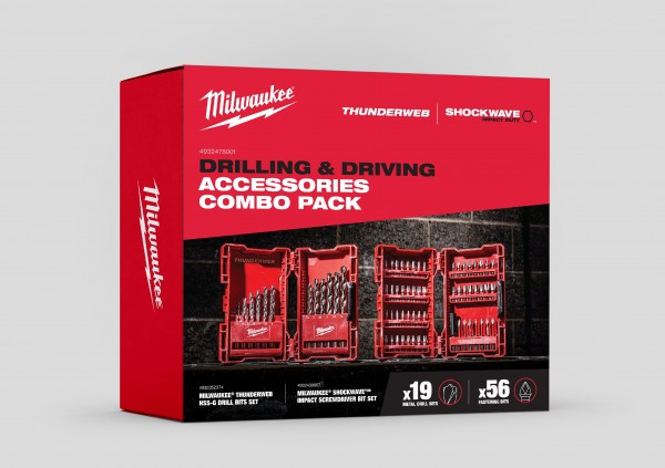 "Milwaukee ""Drilling & Driving"" Zubehör Combo Pack (Thunderweb & Shockwave)"