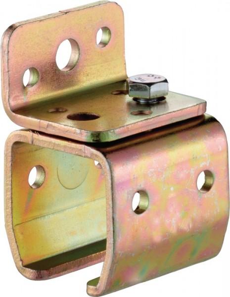 Wandbefestigungsmuffe -01 Modell 401 Profil 400 Stahl galvanisch verzinkt HELM