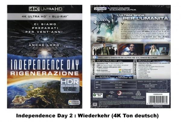 Independence Day 2, Wiederkehr (4K Ultra HD Blu-ray) 4K Ton deutsch