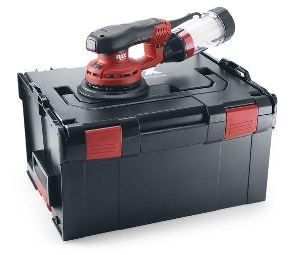 FLEX Leistungsstarker Exzenterschleifer ORE3-150EC Set Brushless in L-Boxx