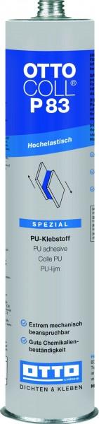 OTTOCOLL P 83 310ml Alu-Kartusche C01 weiss hochelastischer PU-Klebstoff