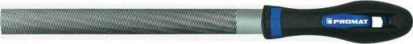 Werkstattfeile DIN 7261 Länge 200 mm Querschnitt 20 x 6 mm Hieb 2 Halbrund 2K-Ergo PROMAT