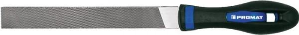 PROMAT Werkstattfeile L. 250 mm Querschnitt 25 x 6 mm Hieb 1 Flachstumpf 2K-Ergo