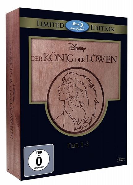 Der König der Löwen TEIL 1-3 (Blu-ray) *Holzbox Limited Edition* Trilogie