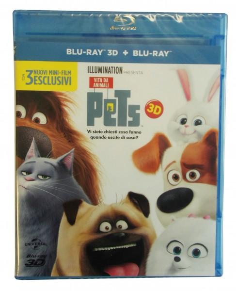 Pets Blu-ray 3D + 2D (Deutscher Ton)