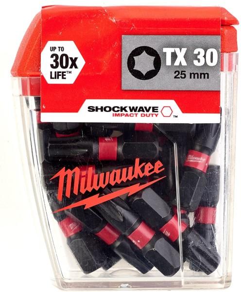 Milwaukee Schrauberbit SHOCKWAVE (2VE5) TX30 / 25 mm