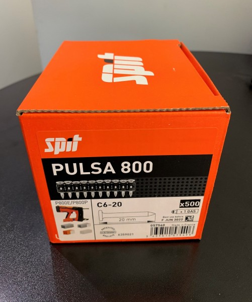 SPIT P800 Nagel C6-20 (500) (500) Pulsa 800 Standardnägel m. Gas