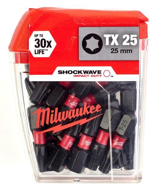 Milwaukee Schrauberbit SHOCKWAVE (2VE5) TX25 / 25 mm