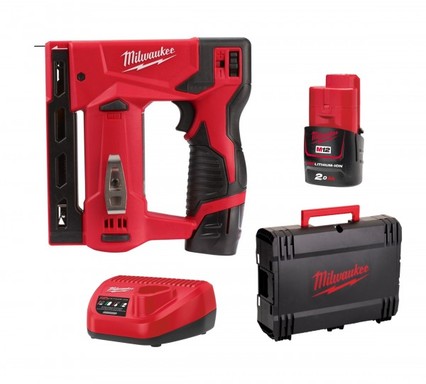 Milwaukee M12BST-202X Akku-Tacker 12V inkl. 2xAkku