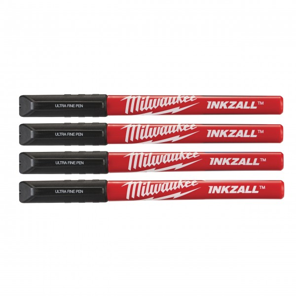Milwaukee INKZALL Fineliner schwarz (4er Pack)