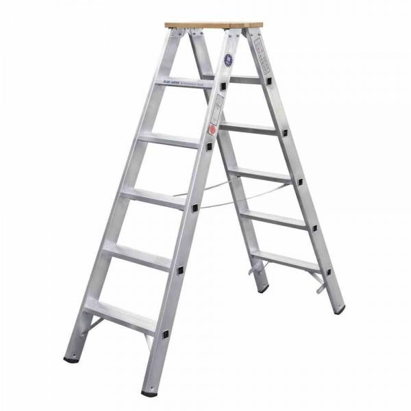 Iller Stufenstehleiter ES Alu 2x5 Stufen