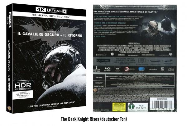 4K Blu-ray The Dark Knight Rises (Ton Deutsch)