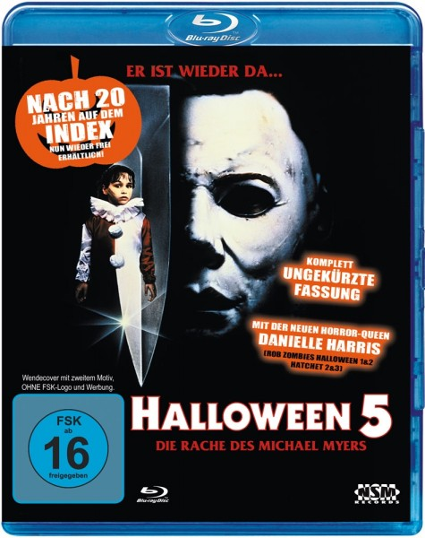 Halloween 5 - Die Rache des Michael Myers (Uncut) [Blu-ray] NSM Wendecover
