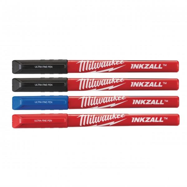 Milwaukee INKZALL Fineliner 2x schwarz, rot, blau