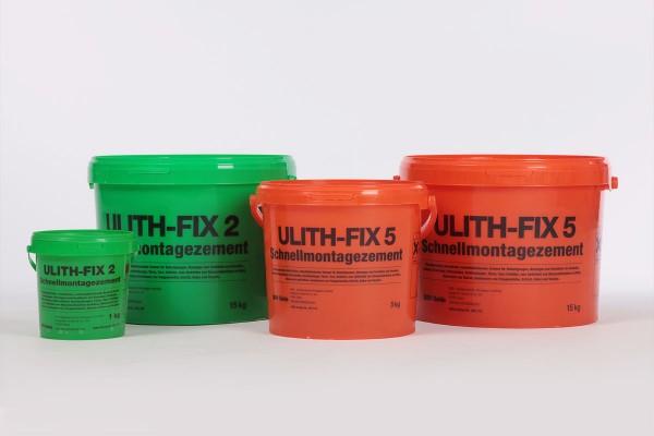 Ulith Fix5 Schnellmontagemörtel 1 kg/ 5kg / 15kg Eimer