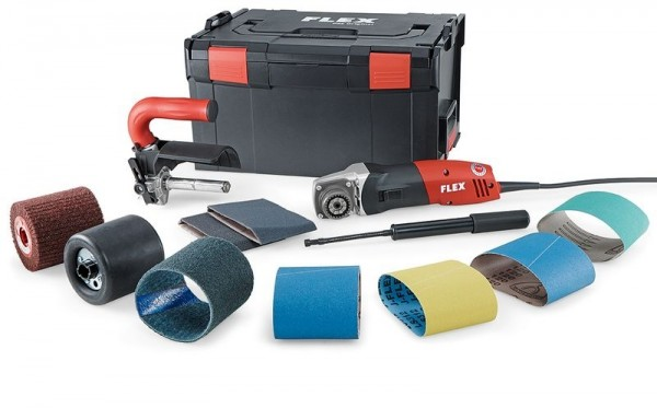 FLEX Satiniermaschine BSE14-3 100 Set 230V inkl. Walze+Schleifvorsatz+Hülzen