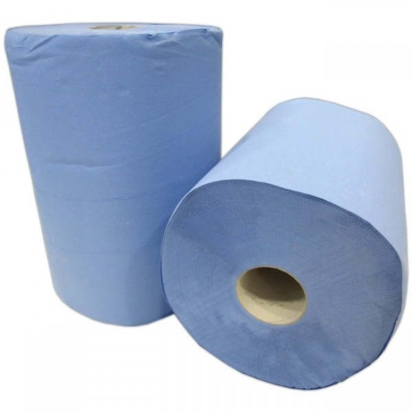Putzpapier blau (2erPk 2x500Bl.) 3-lag. ca 36x34cm