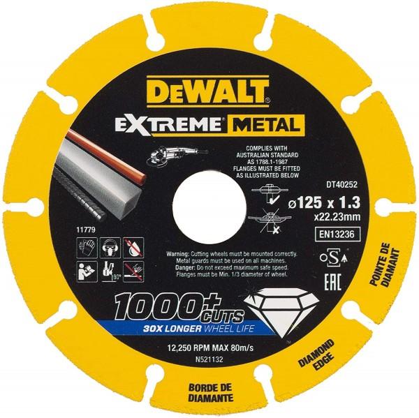 DeWalt Diamant-Trennscheibe EXTREME Metall DT40252 D.125x1,3mm
