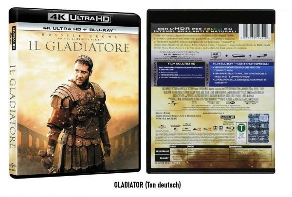 Gladiator Extended + Kinofassung 4K ULTRAHD +Blu-ray (Russel Crowe) Ton deutsch