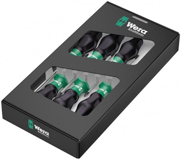 Wera 1335/1350/1355/6 Schraubendrehersatz Kraftform Comfort grün -schwarz