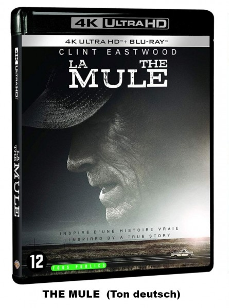 The Mule Clint Eastwood (4K Ultra HD +Blu-ray) Ton deutsch (2 Disc)