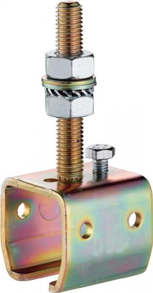 Muffe -04 104 Profil 100 Stahl galvanisch verzinkt Ausführung höhenverstellbar H