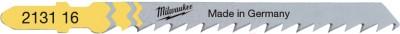 Milwaukee Stichsägeblatt Holz schnelle Schnitte 75 x 4 mm T144D (25er Pack)