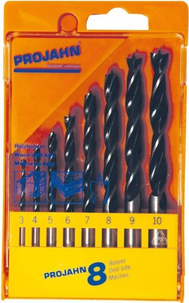 Projahn Kunststoffkassette Holzbohrer 8tlg 3-10 mm in 1mm Schritten